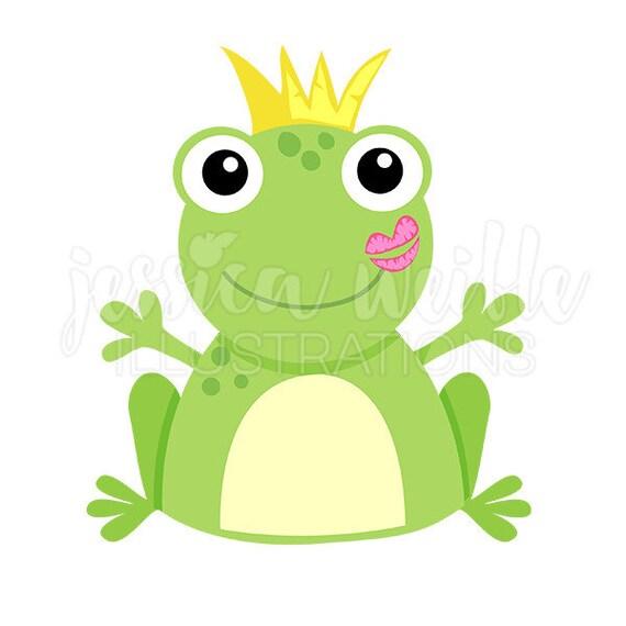 Kuss Ein Frosch Niedlich Digitale Clipart Frosch Küssen Etsy