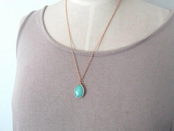 1pc 31X18MM FlatRound Bottom Tear Drop With Necklace Chain