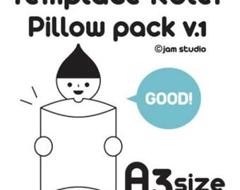 Template Ruler For Envelope Maker   Pillow Pack V.1 (7.7 X 9.8in)