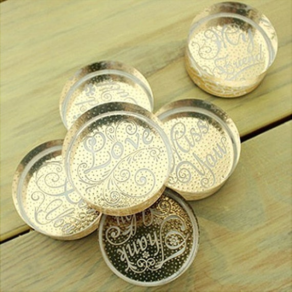 Various Message Round Crystal Stamp (1.6 x 1.6in)