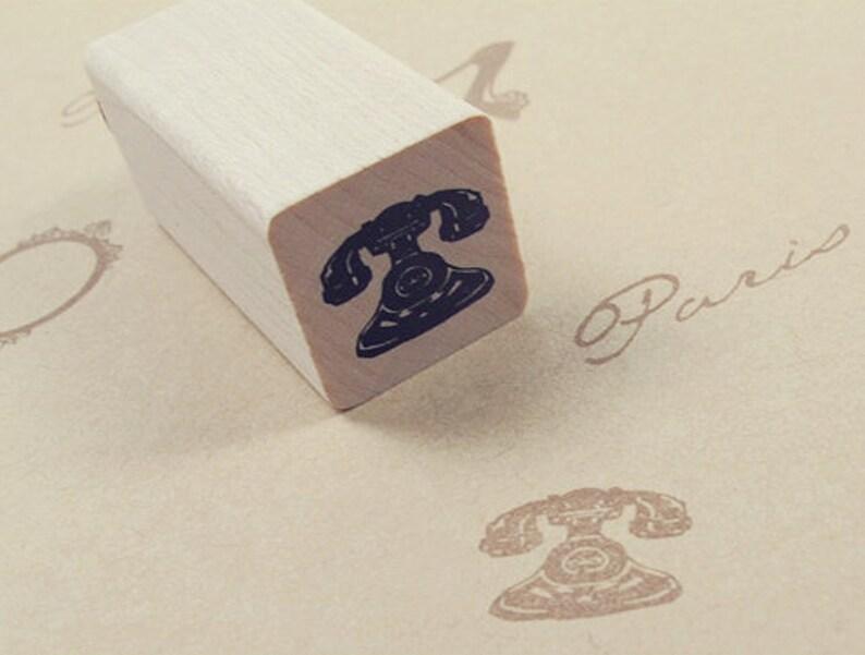 0.75 x 0.75in Vintage Telephone Stamp