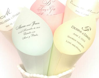 Set of 70 - Stardream Petal Cones or Cones for Candy Bar Buffet at Wedding or Event