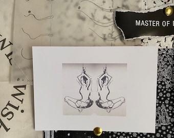Yoga Painting A6 Postcard
