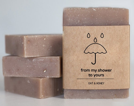 From My Shower To Yours - Mini Shower Soap Favors - Rustic Guest Soaps - Choose your scent - Customize your wrap design