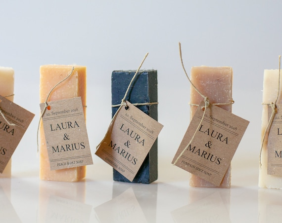 Personalized Soap Favors - 1 oz - Wedding Soap Favors | Shower Favors | Handmade Soap  | Unique Favor Ideas | Guest Soaps | Hotel Soap Bars