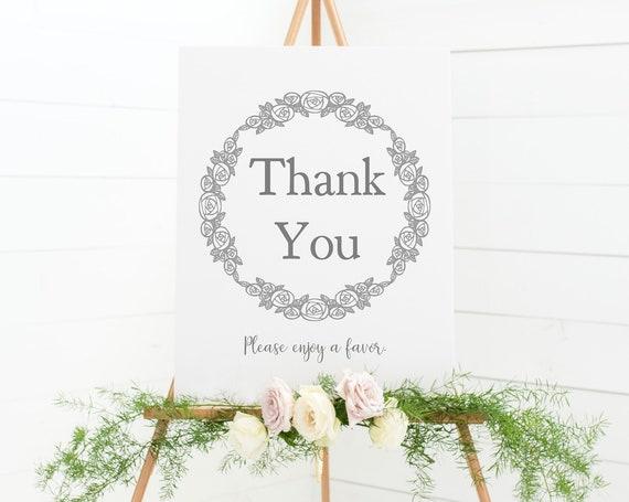 Thank You, Please Enjoy A Favor - Favor Table Sign - Wedding Soap Favor Sign - Shower Favor Table Printable - Sign For Wedding Favors