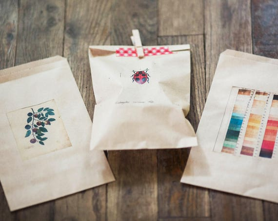 Personalized Favor Bags - Custom printed- Send us your text, artwork or logo- size 6 1/4 x 9 1/4 inches