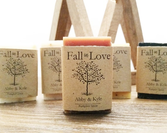 Fall Wedding Soap Favors - Fall Party Favors - Fall themed favors - Fall in Love - Autumn Wedding - Handmade Soap Favors