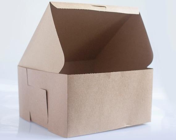 12 x 12 x 10 inch White Bakery Box - 1 Sample Box