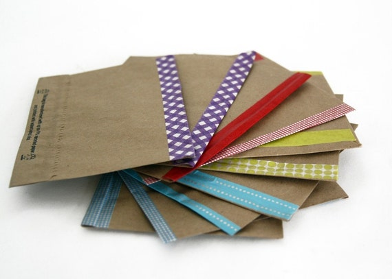 Kraft Envelopes with Washi Paper Tape