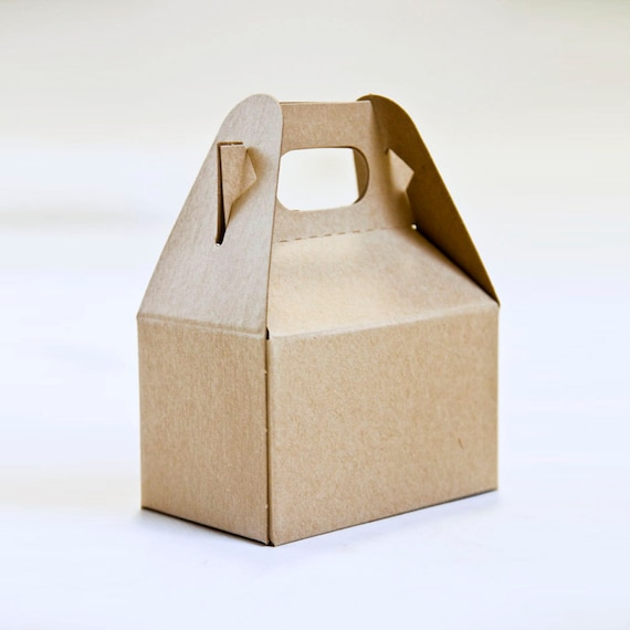 Small Kraft Gable Box 6 x 4 x 4 inch - pack of 10