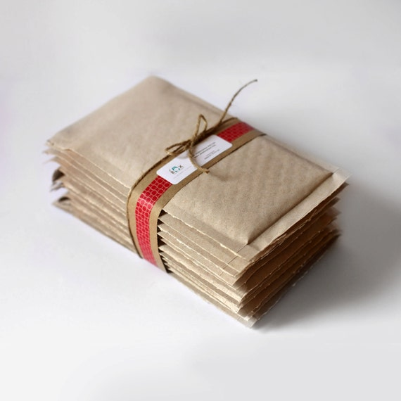Brown Kraft Bubble Mailers-  4.25 x 7 in-  Set of 100