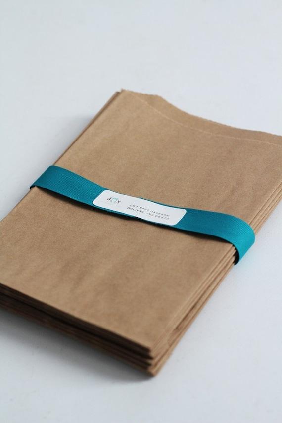 Kraft Paper Bags Lot of 250 6 1/4 x 9 1/4