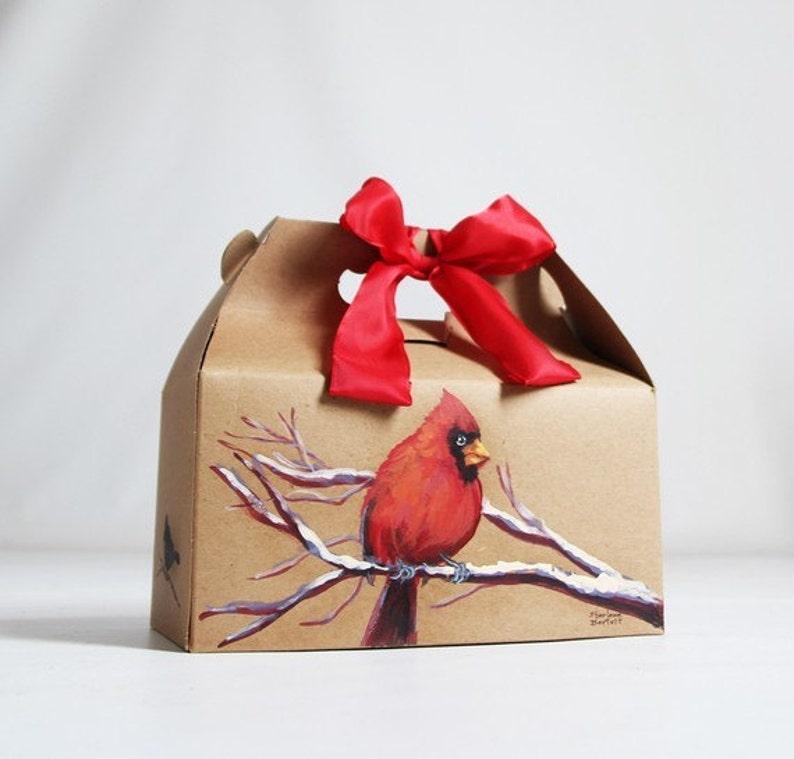 1 Sample box 9 x 6 x 6  Kraft Natural Gable Gift Box or White Gift Box