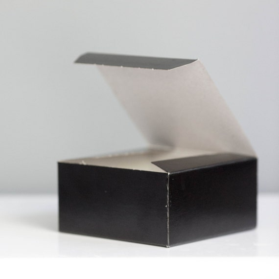Black Gift Boxes - Set of 4 - 6 x 4 1/2 x 4 1/2 inches