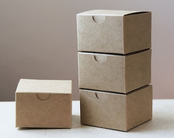 Kraft Natural Gift Box 3x3x2  Lot of 100  ( 3 in x 3 in x 2 in )