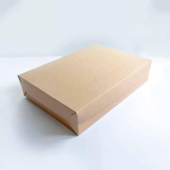 Set of 10- 19 x 14 x 4 EXTRA LARGE Kraft  Gift Box 2 pc top and bottom