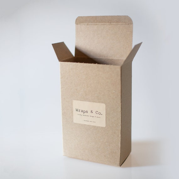 """Kraft Gift Box - 5"""" x 3"""" x 8"""" - Set of 10 - Perfect size for scarves, children's shoes, children's clothing and other small to medium items"""