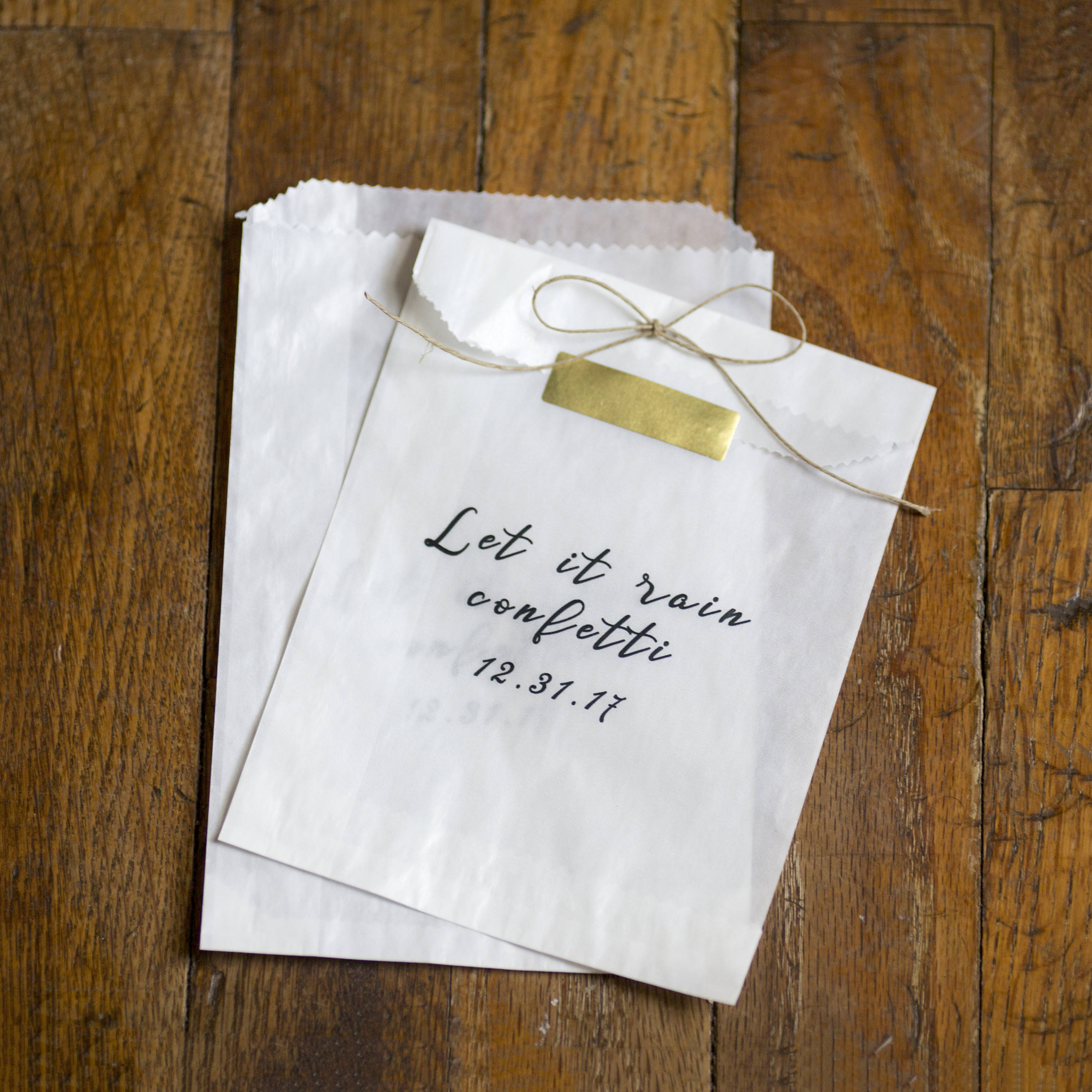 Let it Rain Confetti - Glassine Bags - size 4 3/4 x 6 3/4 inches ...