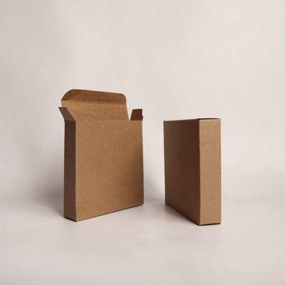 20- 4 1/2 x 1 7/8 x 4 1/2 inch Kraft Gift Boxes-  Cookie Box - Card Box - Print Box