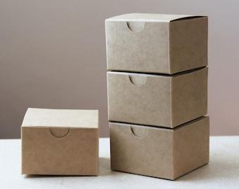 Set of 25 Kraft Natural Gift Box 3x3x2  ( 3 in x 3 in x 2 in )