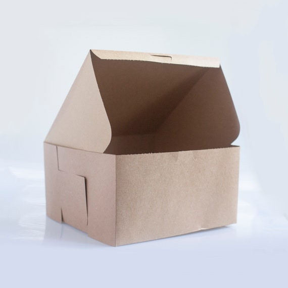 10 x 10 x 5 inch Kraft Brown Bakery Box - Choose your quantity | Cake Box | Bridesmaid Gift box | Brown Gift Box | Birthday Cake Box