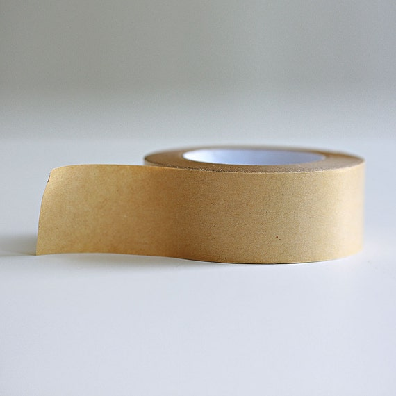 Kraft Paper Tape with glossy outer surface- 2 inches x 180ft  or 3/4 inch x 180 ft
