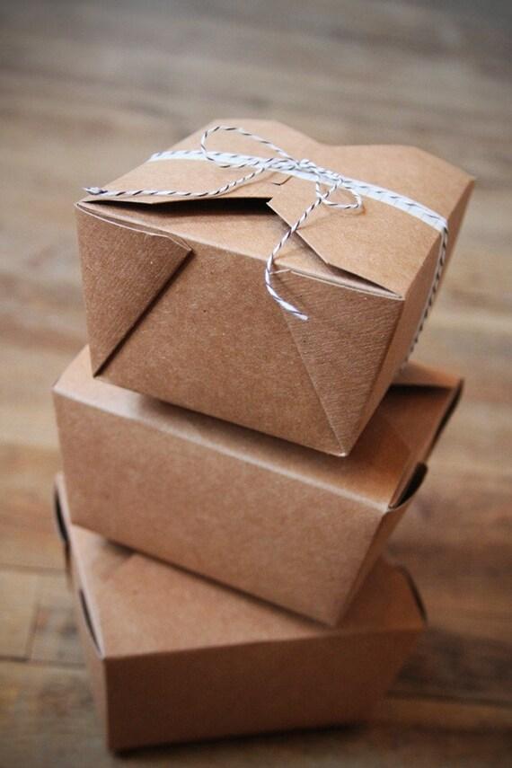 24 Kraft Bio Pak Earth Recycled Boxes Wedding Favor Boxes Etsy
