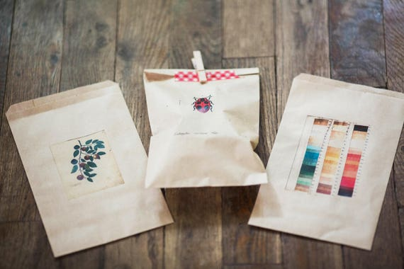 Custom Printed Favor Bags - Weddings, Business Logos, Parties and Events- Send us your text, artwork or logo- size 4 in x 6 in kraft bags