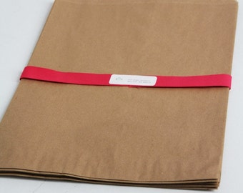 Kraft Paper Bags- EXTRA LARGE-  13 x 3 x 21 w/ side gusset Lot of 25