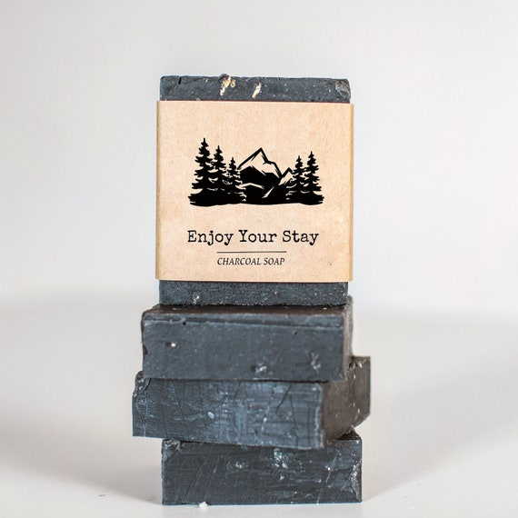 Guest Soap Favors  1 oz  - Mountain Wedding Favors, Cabin, Lodge or Hotel Soaps - Personalize or add logo