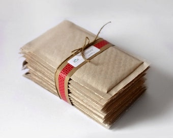 ON SALE 4.25 x 7 in-  Brown Kraft Bubble Mailers-  Set of 10   ||Shipping Supplies,  Padded Envelopes, Mailing, Packaging
