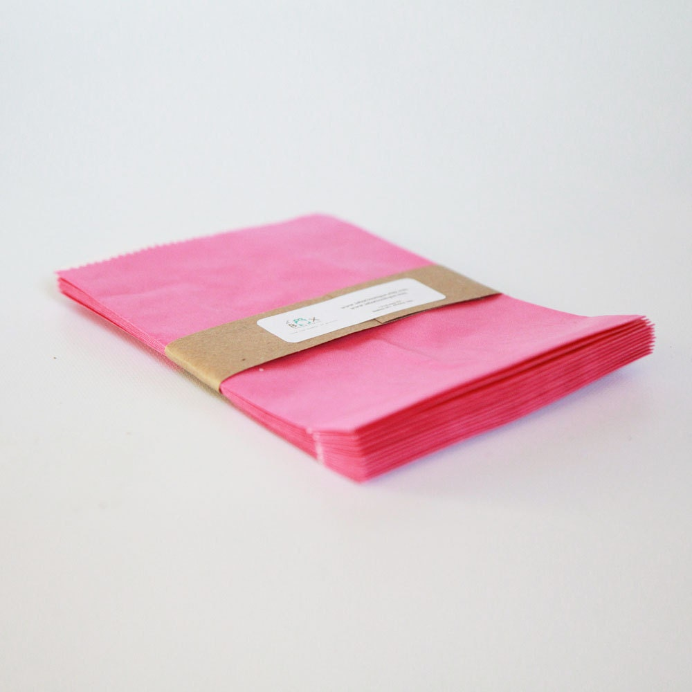 Lot of 24 Pink glassine-lined bags || Wedding Favor Bags, Treat Bags ...