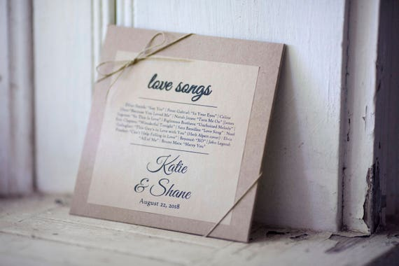 Kraft Stickers for CD sleeves- 4in x 4 in- Set of 24  || Wedding labels & stickers, Wedding love song favors, affordable wedding favors
