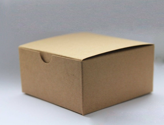 Set of 10- 5x5x3 inch Kraft Gift Boxes - Paper Boxes, Wedding Favor Boxes, Kraft Gift Boxes, Brown Box, Party Favor Boxes, Valentine Boxes