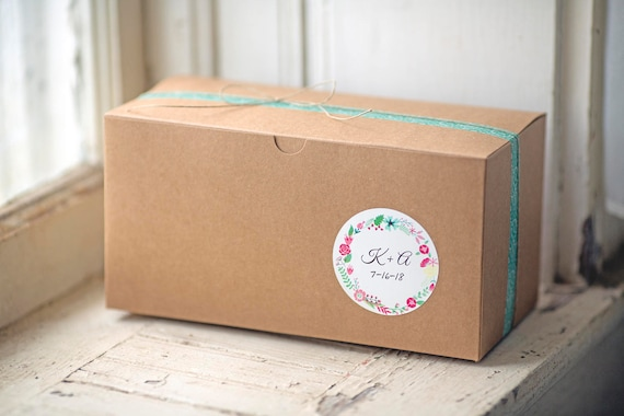 Kraft Gift Boxes- 9x4.5x4.5 inch-- Set of 16  || Bakery Box, Party Food Box, Rustic Weddings, Birthday Box, Bridesmaid Gift Box