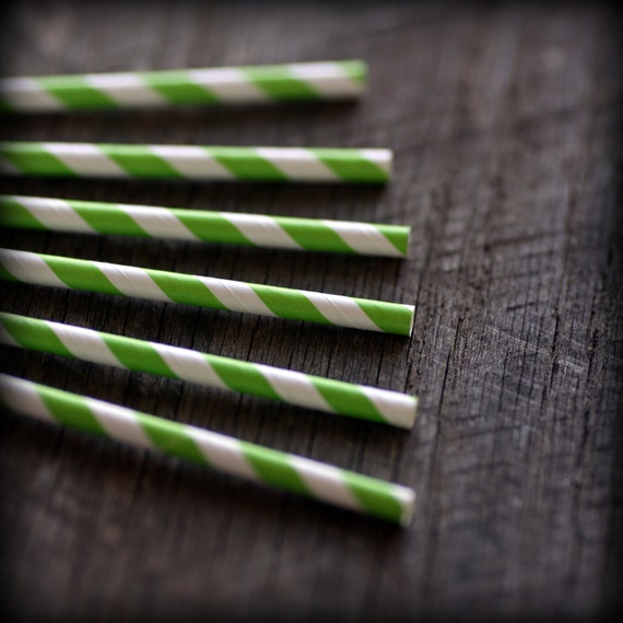 Tangy Lime- Paper Straws- Set of 12