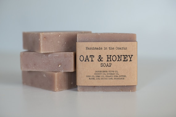 OAT & HONEY Soap Bar - 5 ounce - with or without soap holder