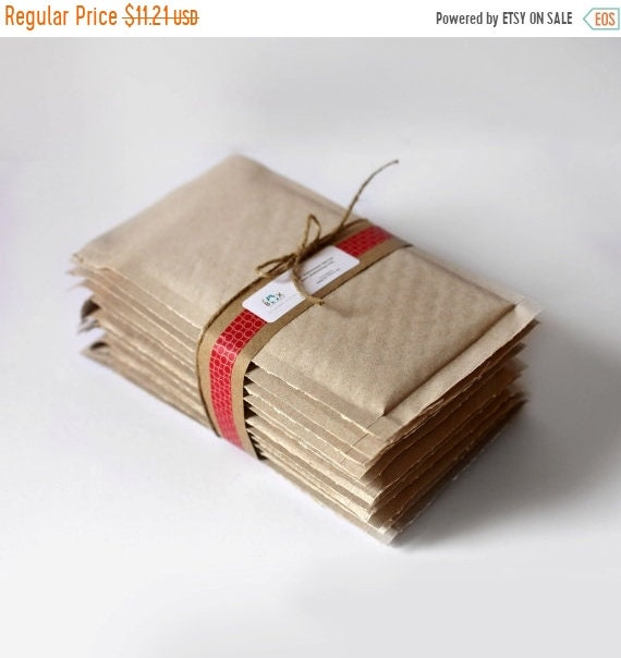 ON SALE Brown Kraft Bubble Mailers- 10.5 x 15 in-  Set of 10   ||Shipping Supplies,  Padded Envelopes, Mailing, Packaging,  Padded Mailers