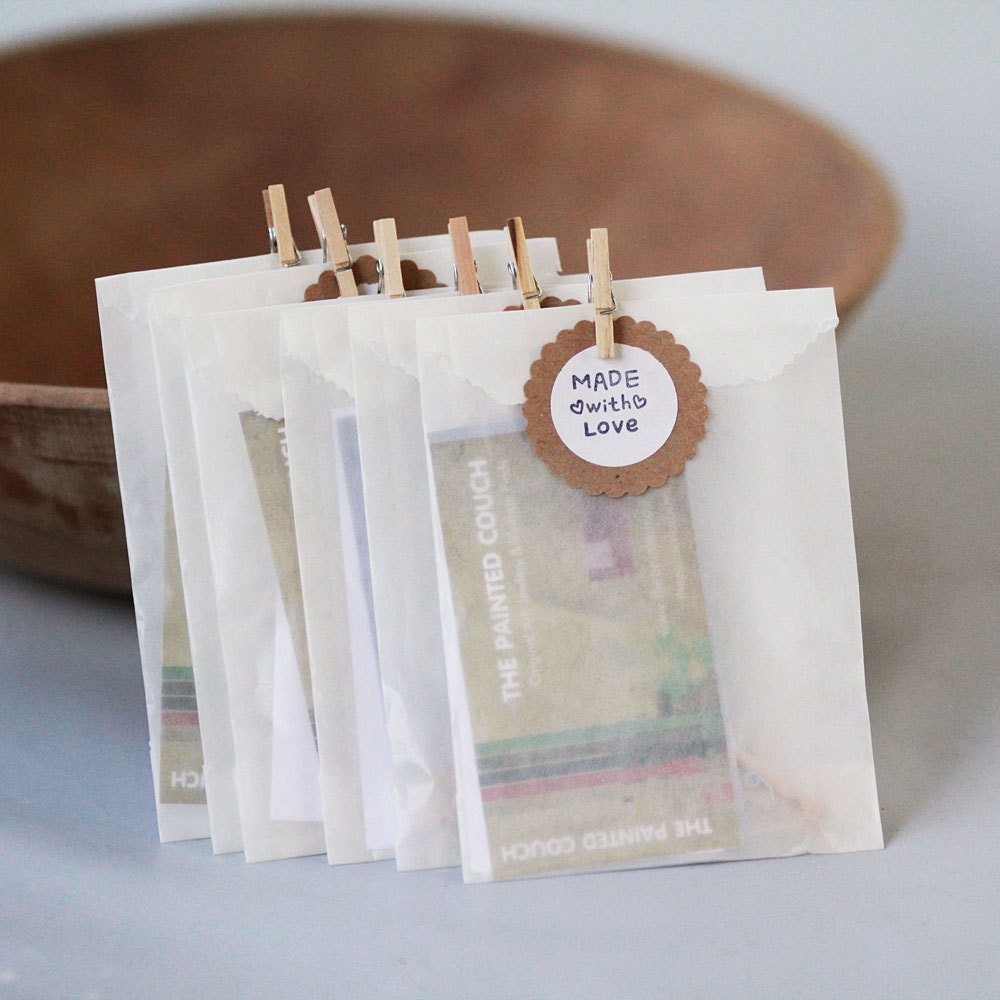 TEENY TINY- our smallest size- GLASSINE Bags- 2 x 3.5 Glassine Bags ...
