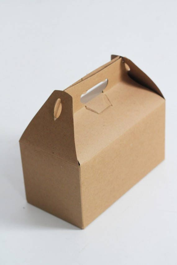 9x6x6 Kraft Natural Gable Gift Box lot of 25-  As Seen In Better Homes and Gardens Food Gift Magazine