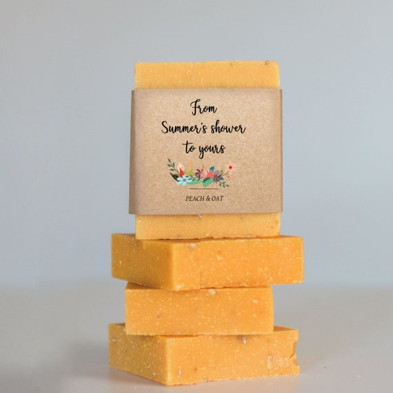 Soap Favors  1 oz  - From My Shower To Yours - Bridal Shower Favors - Baby Shower Guest soap, Peach, Oat & Honey, Beer, Lavender, Peppermint