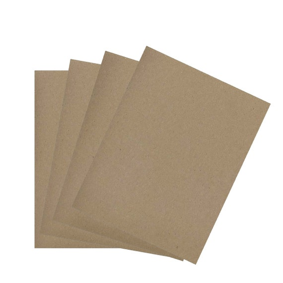 Recycled Kraft Copy Paper - Set of 25 - 8.5 x 11 inches   Eco-friendly printer paper,  recycled printer paper, brown bag paper