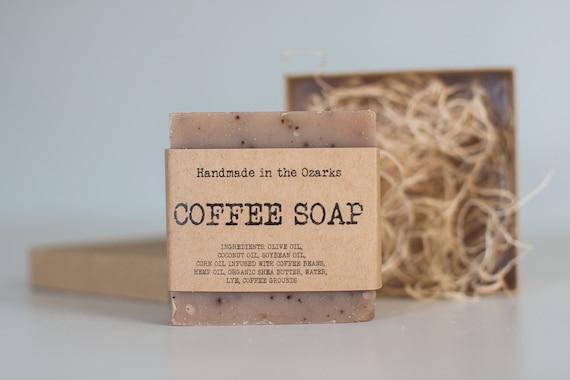 COFFEE Soap Bar- 5 oz - Exfoliating and moisturizing handmade soap