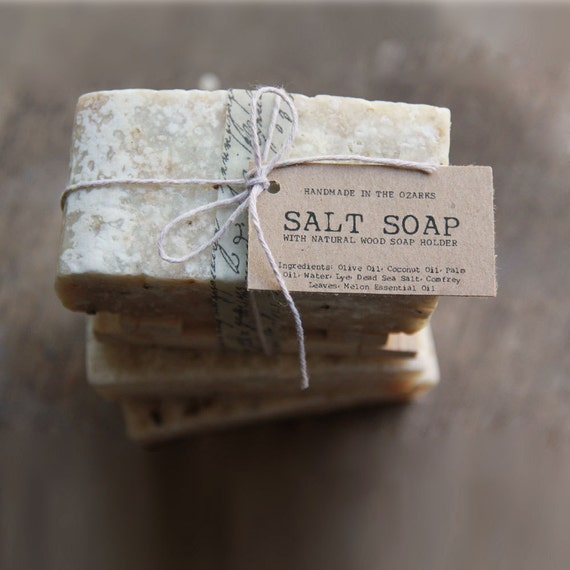SALT SOAP bar Made In The OZARKS  | Salt Life,  Sea Salt Soap Bar, Detoxifying Soap, Detox Soap, Rustic Gift, Man Gift