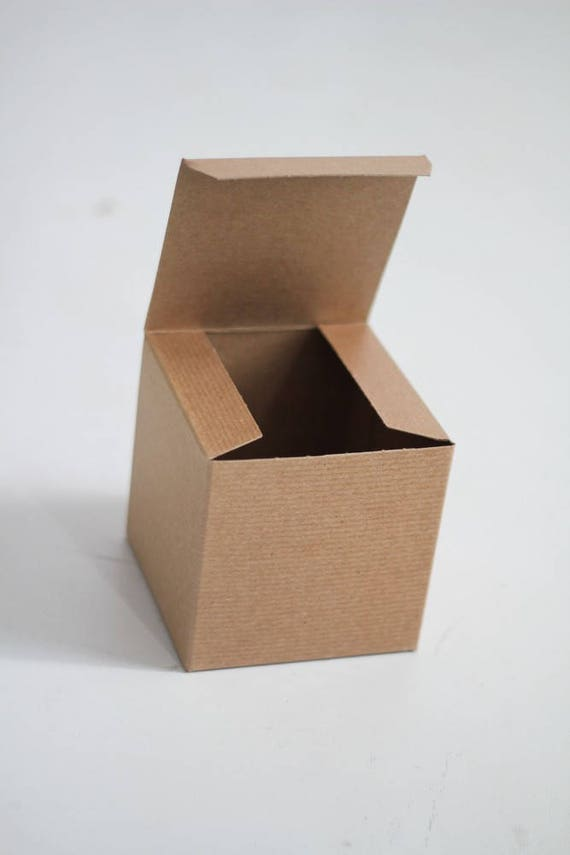 Kraft Gift Boxes - 5x5x5 inch  -Kraft Solid surface or Pinstripe - 1 sample box
