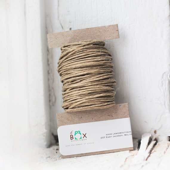 Natural Hemp Twine 15 yards |eco-friendly, sustainable packaging- beautiful neutral tones for tags, jewelry & paper crafts | rustic wedding