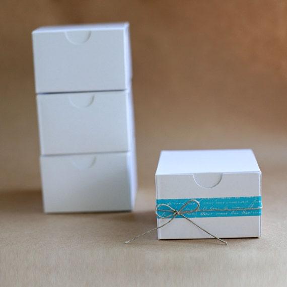 Eco-White Gloss Gift Box 3x3x2  Lot of 50   ||Party Favor Boxes, Bridesmaid Boxes, Groomsmen Gift Box, Wedding Boxes, Favor Boxes