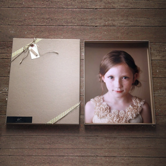Kraft Photography Boxes for 11 x 1 4 prints -- Set of 50 | Recycled Brown Boxes, Presentation Box, Photography Print Boxes, Art Presentation