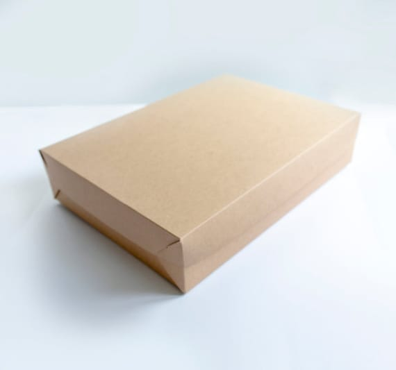 Set of 4- 19 x 14 x 4 EXTRA LARGE Sheet Cake Box - 1 piece foldable kraft gift box